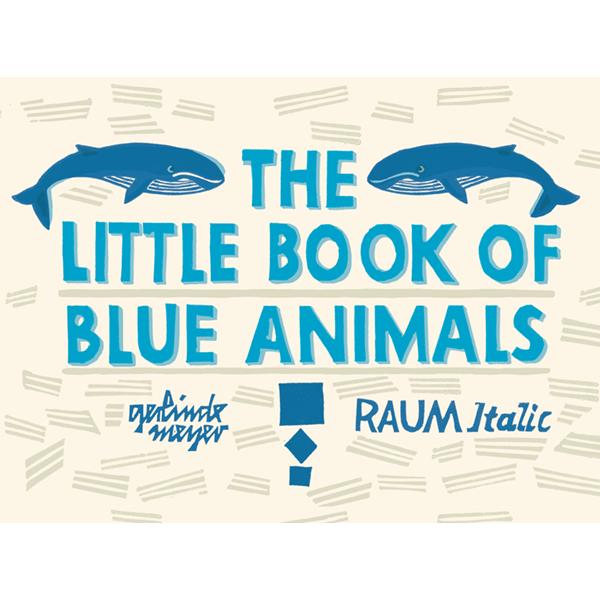 little book BLUE animals