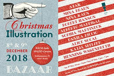 Christmas illustration bazaar